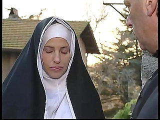 Two nuns are comforting a sister, but she dont know theyre two horny shemales!