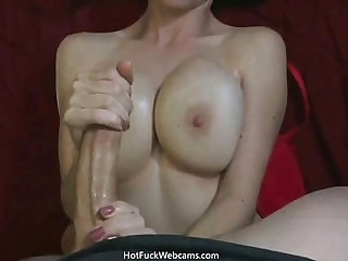 Monster Cock Jizz on GFs Huge Tits sexvideo.wtf