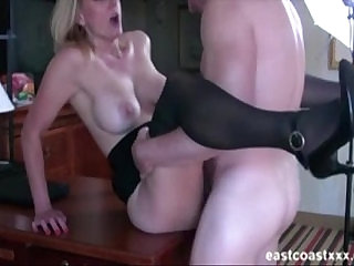 Hot MILF fucks at interview to get the job