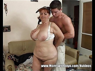 Busty Mama Gives Bonus For Cleaning The House