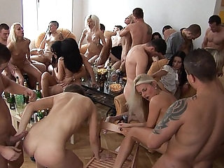 Party sluty Girls Sucking and Fucking their Friends