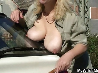 Great scandal when she finds him fucking her mom