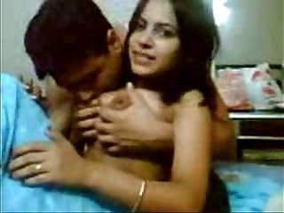 indian shy teenage babe fucking with her boyfriend Indian porn tube