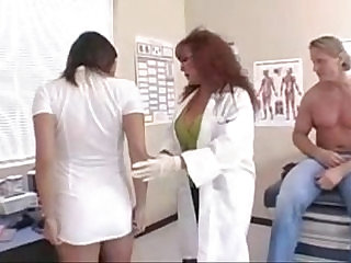 patient fucks busty milf nurse and doctor