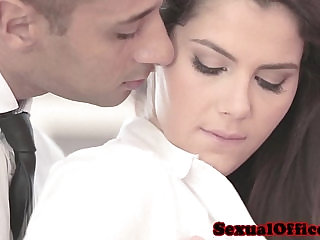 Classy officesex closeup with Valentina Nappi