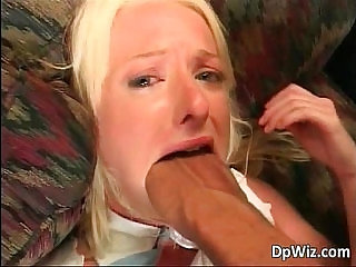 Hot blonde bitch fists her butthole