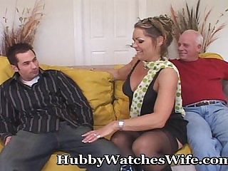 Hubby Ecstatic Watching his Wife