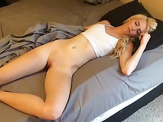Sleeping girl wakes up to suck my dick and fuck each other with cum facial
