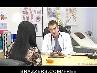 Hot busty patient Anastasia Brill is fucked hard anally by her doctor