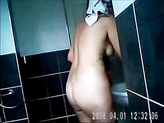 Nude moms spied in bath room by bad sons