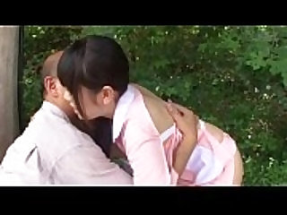 Subtitled bizarre Japanese half naked outdoors