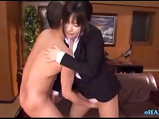 Office Lady In Pantyhose Fingered Stimulated With Vibrator Getting Her Tits Fuck