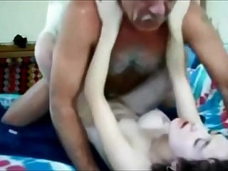 College babe hooks up with old guy