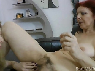 Angel Hott and Rocco Siffredi get dirty with oldie