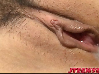 Busty Japanese fucked by two horny males