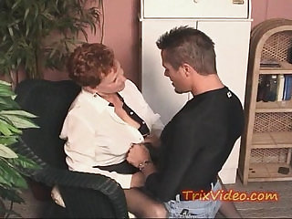 Old retired GRANNY gets some COCK