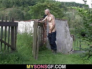 Horny GF cheats with her BFs dad