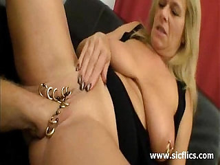 Huge fisting for her heavily pierced vagina
