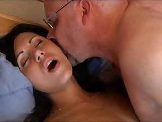 Scarlet helps an old man relax