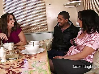 Mother finally meets her step daughters boyfriend properly in a sexy threesome
