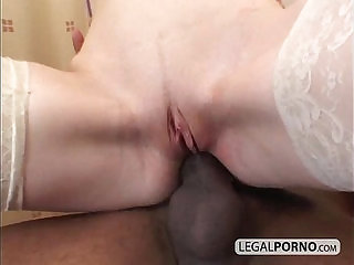 Two horny brunettes fucked in an interracial foursome HC