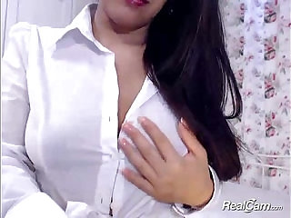Asian in glasses does a striptease
