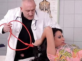 Beautiful french girl fucked good in clinic pt.