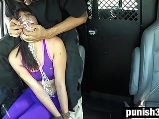 Miko Dais Running Injury Turns into Outdoor Rope Bondage, Deepthroat BJ, Rough Sex
