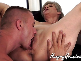 Grannies are the best to fuck session with