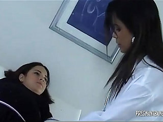 Pregnant babe on medical check