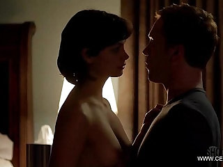 Deadpools Morena Baccarin Showing her boobs Topless Homeland Compilation