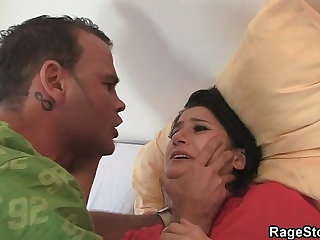 He makes her ride his cock hard