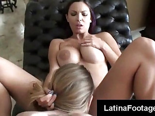 Two hot blooded latinas fucked in POV