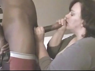 mature fucks her young black monster cock in hotel room while husband is away