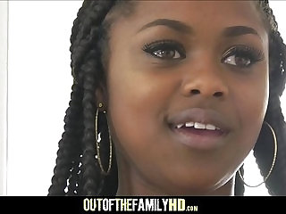 Cute Black Stepdaughter Fucked By White Stepdad