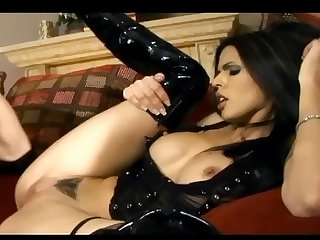 Busty babe Love fucking in shiny black boots