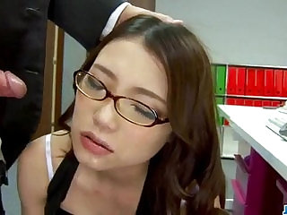 Sweet Ibuki enjoys cock from behind while at work