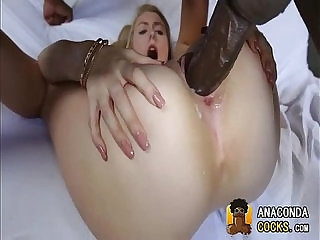 Bitch Succumbs To Black Monster Cocks