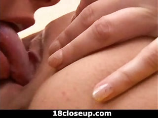 18 Y O Fuck Tongue in her Friends Pussy!
