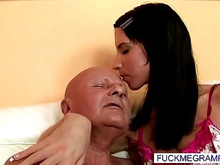 fat old perv with hot much younger babe