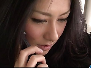 Strong fuck for brunette Japanese Ishiguro