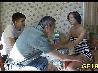 Sex appeal round assed chick spreads legs wide open and feels how fat dick