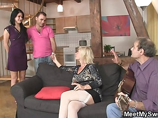 His mother starts dirty game...