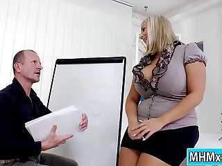 Krystal Swift fucks with her boss in the office