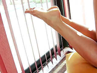 Footjob feet babe fingering pussy fucked and cant get enough
