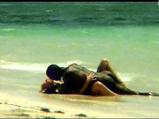 Monika Sweet interracial sex on the beach SOFTCORE