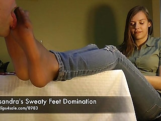 Cassandras Sweaty Feet Domination sexvideo.wtf