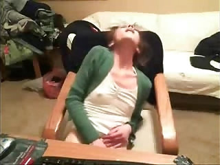Hidden cam catches great orgasm of my sister at PC