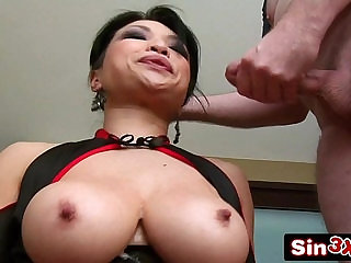 Busty Korean MILF Mia Rider Showing Her Excellent Blowjob Skills