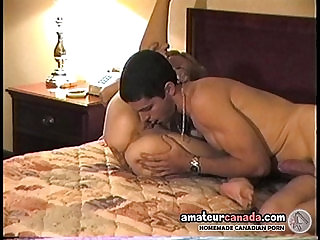 18 y o couple exchanges oral sex and ball sucking with cock